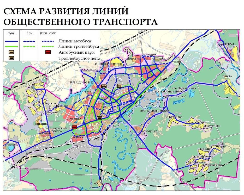 Схема развития городского
